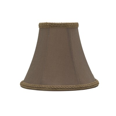 6 Silk Softback Bell Lamp Shade Color: Taupe