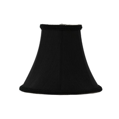 6 Silk Softback Bell Lamp Shade Color: Black