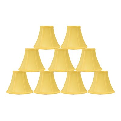 6 Silk Bell Lamp Shade Color: Yellow