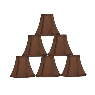 6 Silk Bell Candelabra Shade Color: Copper