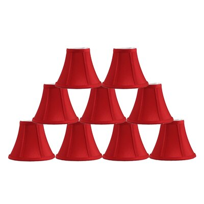 6 Silk Bell Lamp Shade Color: Red