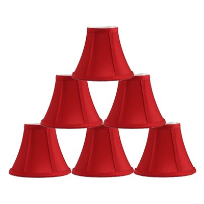 6 Silk Bell Candelabra Shade Color: Red