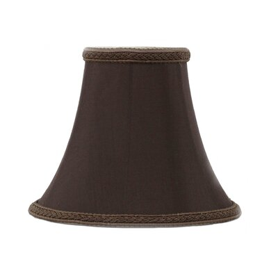 6 Silk Softback Bell Lamp Shade Color: Chocolate