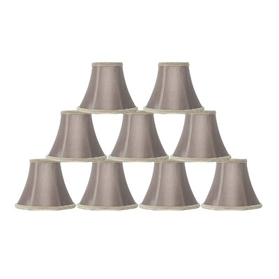 6 Silk Bell Clip-on Lamp Shade Color: Taupe/Dark Braided Trim