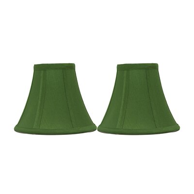 6 Silk Bell Clip-on Candelabra Shade Color: Kelly Green