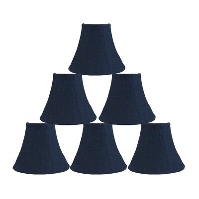 6 Burlap Bell Candelabra Shade Color: Blue