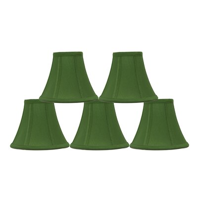 6 Silk Bell Candelabra Shade Color: Kelly Green