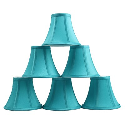 6 Silk Bell Candelabra Shade Color: Teal