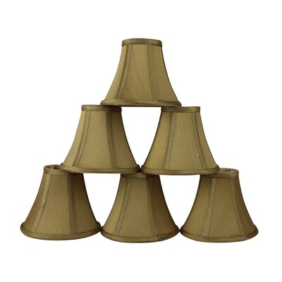 6 Silk Bell Candelabra Shade Color: Gold