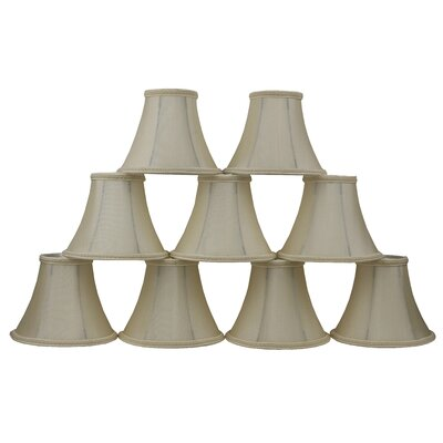 6 Silk Bell Clip-on Lamp Shade Color: Cream