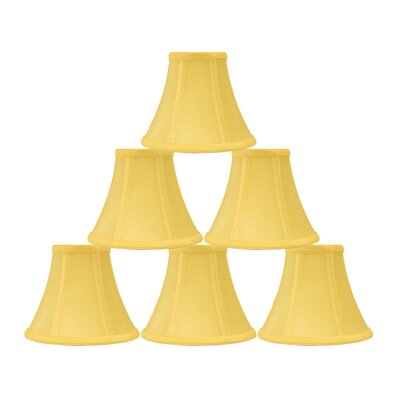 6 Silk Bell Candelabra Shade Color: Yellow