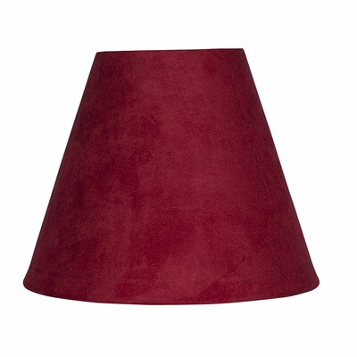 6 Suede Empire Lamp Shade Color: Red