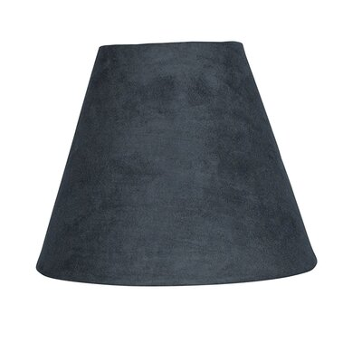 6 Suede Empire Lamp Shade Color: Gray