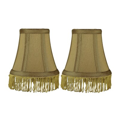 Fringe 5 Silk Bell Candelabra Shade Color: Gold with Gold Fringe