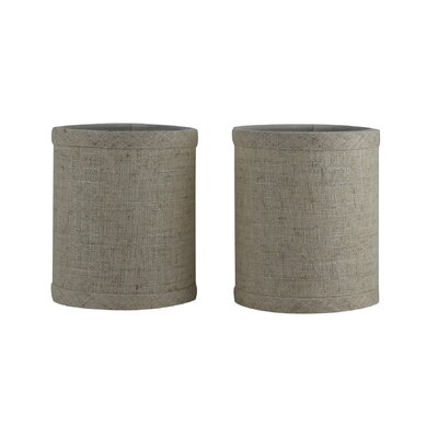 4 Linen Drum Candelabra Shade Color: Natural Flax