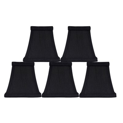 Softback Square 5 Faux Silk Bell Candelabra Shade Color: Black
