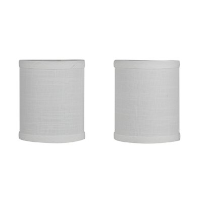4 Linen Drum Candelabra Shade Color: Off-White Textured