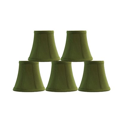 5 Silk Bell Candelabra Shade Color: Olive Green