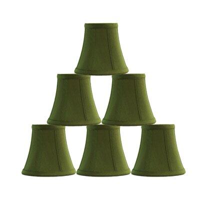5 Silk Bell Candelabra Shade Color: Olive Green