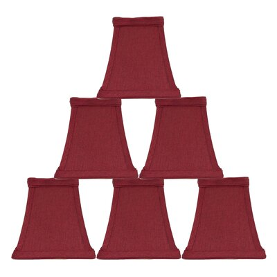 Softback Square 5 Faux Silk Bell Candelabra Shade Color: Burgundy
