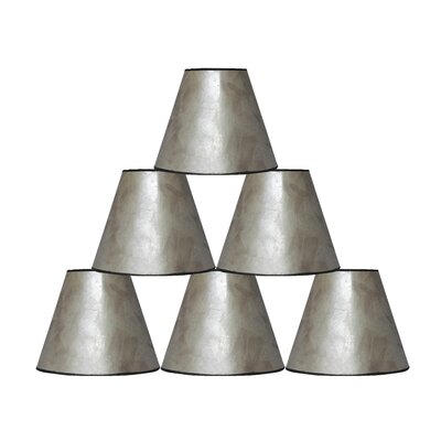 6 Mica Bell Lamp Shade Finish: Silver