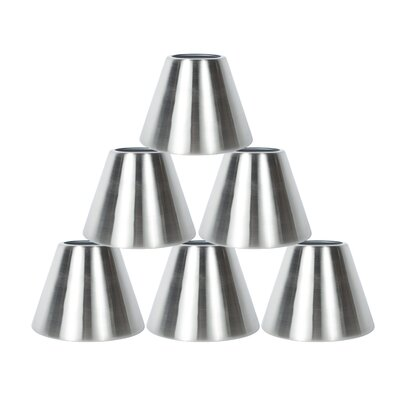 6 Metal Bell Lamp Shade Finish: Nickel