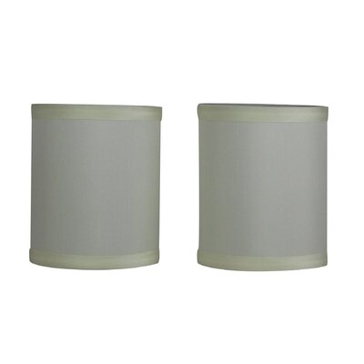 4 Faux Silk Drum Candelabra Shade Color: Eggshell