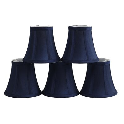 5 Silk Bell Candelabra Shade Color: Navy Blue