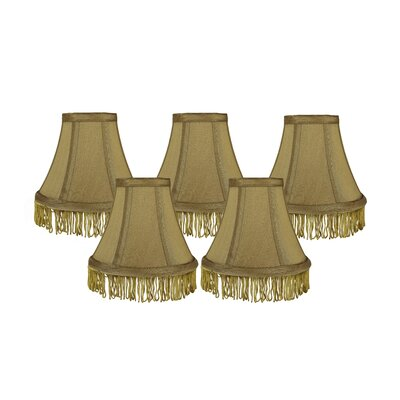 Fringe 6 Silk Bell Lamp Shade Color: Gold with Gold Fringe