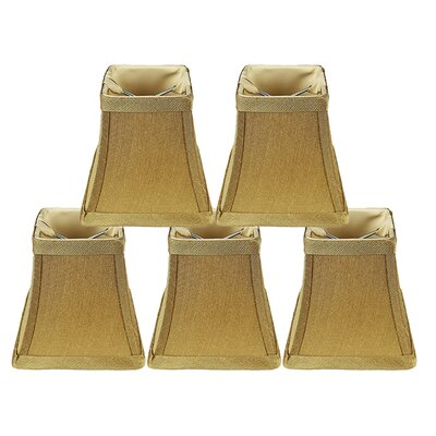 Softback Square 4 Faux Silk Bell Candelabra Shade Color: Gold
