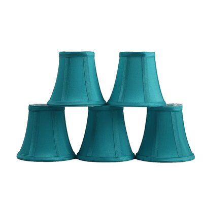 5 Silk Bell Candelabra Shade Color: Teal