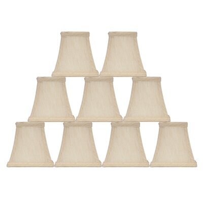 Softback Square 5 Faux Silk Bell Candelabra Shade Color: Cream