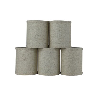 4 Linen Drum Candelabra Shade Color: Cottage