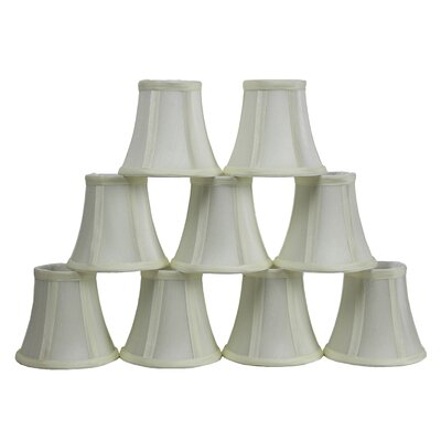 5 Silk Bell Candelabra Shade Color: Eggshell