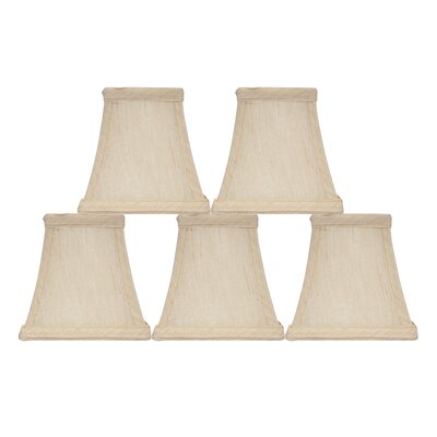 Softback Square 4 Faux Silk Bell Candelabra Shade Color: Cream