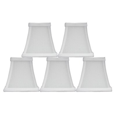 Softback Square 5 Faux Silk Bell Candelabra Shade Color: Off-White