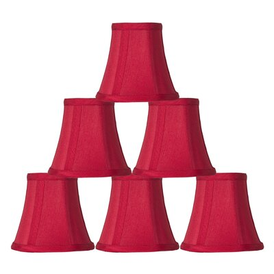 5 Silk Bell Candelabra Shade Color: Red