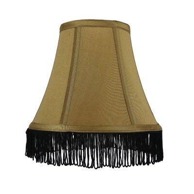 Fringe 6 Silk Bell Lamp Shade Color: Gold with Black Fringe
