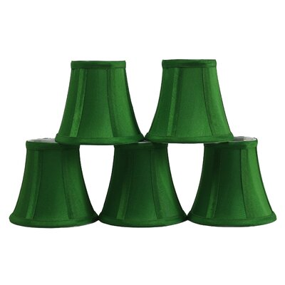 5 Silk Bell Candelabra Shade Color: Kelly Green