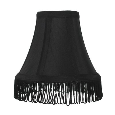 Fringe 6 Silk Bell Lamp Shade Color: Black with Black Fringe
