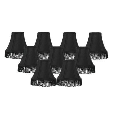 Fringe 6 Silk Bell Lamp Shade Color: Black with Black Fringe