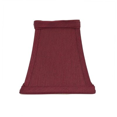 Softback Square 4 Faux Silk Bell Candelabra Shade Color: Burgundy
