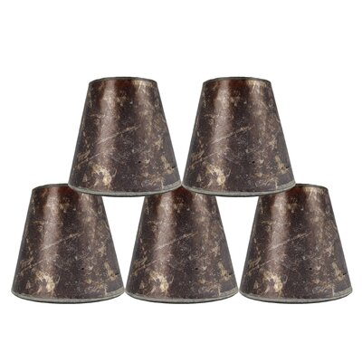 5 Mica Bell Candelabra Shade Finish: Amber