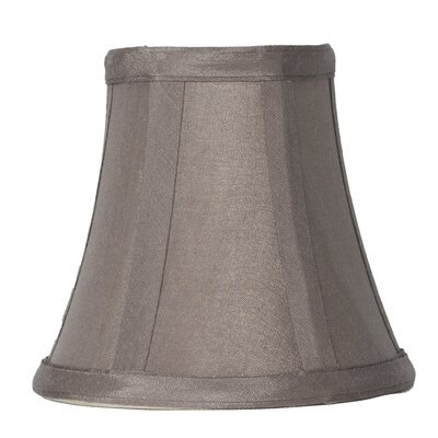 5 Silk Bell Candelabra Shade Color: Taupe