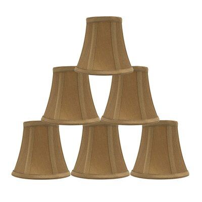 5 Silk Bell Candelabra Shade Color: Gold