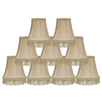 Fringe 5 Silk Bell Candelabra Shade Color: Cream with Cream Fringe