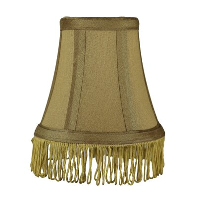 Fringe 5 Silk Bell Candelabra Shade Color: Gold with Gold Fringe