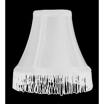 Fringe 6 Silk Bell Lamp Shade Color: White with White Fringe
