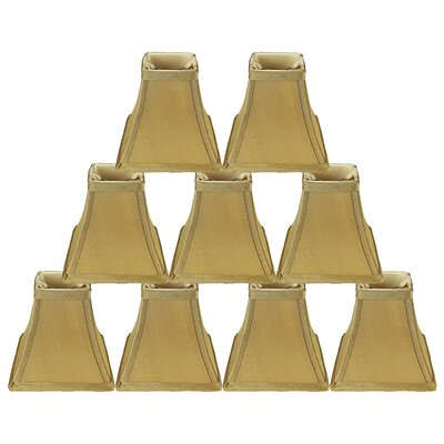 Softback Square 5 Faux Silk Bell Candelabra Shade Color: Gold