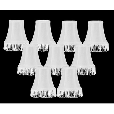 Fringe 5 Silk Bell Candelabra Shade Color: White with White Fringe